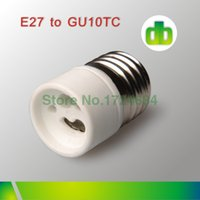 adapter e27 to gu10 - 12pcs White Ceramics E27 To GU10 or GU10 To E27 Lamp holder For Led Lamp adapter made in china