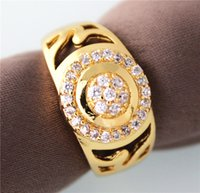 Wholesale Bague Homme White Crystal Mens Rings K Gold Jewelry CZ Diamond Ring for Men White Gold Plated Anillos JX006