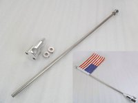 flag pole - 24 quot Chrome Motorcycle Flag Pole Mount Luggage Rack For Harley Davidson Dyna Fat Boy Electra Glide Sportster Softail