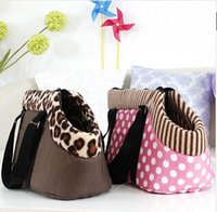 Wholesale pet bag dog carrier travel carrying bag for dogs and cats leopard print small dog bag pink polka dots cat bag