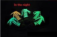 Wholesale Luminous shoelace luminous shoelace fluorescent shoes new sports leisure flashing shoelaces