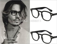 Wholesale 2016 Fashion Top Johnny Depp Glasses Men Women Retro Vintage Optical Eyeglasses Myopic Glasses Frame Oculos de grau