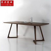 ash wood dining table - Nordic ikea style furniture Italy chinese ash office table rectangle table solid wood dining table Size and color