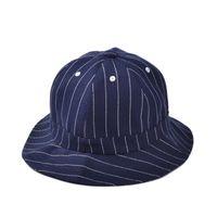 alpine hats - Summer Cotton Fishing Hat Cap Dome Bucket Hats for Men Women Fashion Outdoor Casual Striped Alpine Hat