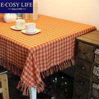 Wholesale New Design handmade Plaid cotton Table Cloth Rectangular Home Decor Dining Table Cover table cloth