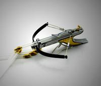 venda por atacado mini brinquedos-Mini arco-ball Seta de flecha de caça Tenha material de tiro de diversão Inoxidável Powerful Slingshot brinquedo modelo tiro com arco frete grátis