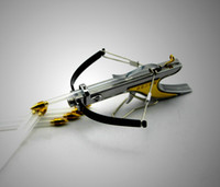 al por mayor slingshots-Mini caza ballesta arco flecha Diviértete cosas disparos inoxidable de gran alcance de tiro con arco de la catapulta de juguete modelo de envío libre