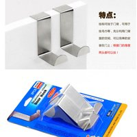 Wholesale set For Kitchen Hanging Hanger Holder Door Hooks Hanging Coat Cloth Strong Stainless Steel