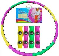 Wholesale DHL Plastic Removable Magnetic Massage Hula Hoops Combined Hula Hoop lose weight
