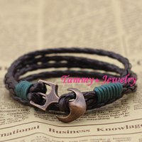 anchors for arms - MYLB0078DH Fashion Jewelry DIY Handmade Friends Anchor Bracelets Bangle Arm Cuff Bracelet For Women Valentine Day