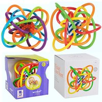 Wholesale 12CM Manhattan Winkel Multicolor Baby Teether Magic Ball Rattles Baby Activity Toys Ball for Age M Baby
