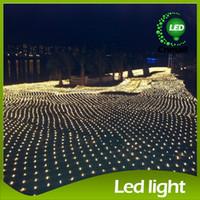 8m * 10m LED Net LED cordes Net LED rideau de lumières à DEL étanche Feux de mariage Grand net de Noël cordes LED