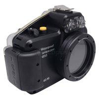Wholesale Mcoplus m ft Waterproof Underwater Diving Housing Bag Case for Sony NEX NEX5 mm Lens Camera