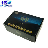 Wholesale 10pcs S V8 HD Satellite Receiver with PVR DVB S2 Supported Youtube Youporn CardSharing Web TV MPEG CAMD Biss Key SKYBOX V8 openbox v8s