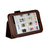 Cheap Folio PU Leather Case Stand Cover + Free Stylus for Barnes Noble Nook HD 7 inch