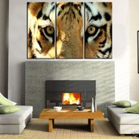 Cheap Home Decor HD Print Modern ait art painting on canvas(No frame)eye of the tiger 12x20inchx3 3pc