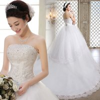 beauty drops spring - Hot High End Wedding Dress Beauty Wedding Dresse Train Wedding Gown Big Peplum Expansion Skirt Drill Wedding Dresses Suit Size