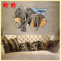 africa for kids - 70 cm Africa large elephant D effect can be moved with plane wall