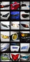 Wholesale 9m cm New Car Sticker Glossy Auto Headlight Repacking Decoration Decals Car Light film Tail light Smoke Fog Light covers CM08