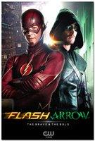 allen arrow - The Flash vs Arrow TV Series Art Silk Poster x36 Oliver Queen Barry Allen