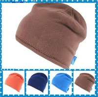 Wholesale 2015 Autumn Winter Brand New Fashion Unisex Thicken Warm Beanie Cap Winter Womens Knitted Hats Mens Beanies Double Wear Cap Colors
