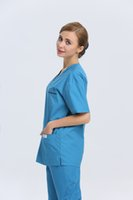 medical scrubs - 2015 OEM women hospital medical scrub sets dental clinic nurse uniform medical work wear nursing scrubs