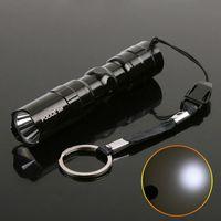 led flashlight - 3W Mini Aluminum LED Flashlight led Waterproof Torch for Camping Sporting home use Bulk H8354