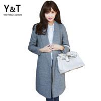 Coats For Women 2015 Cashmere Winter Coat Women Fashion Women's Grey