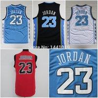 north carolina - 23 Michael Jordan Jersey Michael Jordan North Carolina White Blue Black Jersey Red High School Basketball Jersey Embroidery Logo