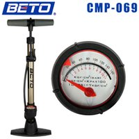 Wholesale Hot Sale Portable Aluminum Alloy Meter Bike Tire Tyre Inflator Dual Valve Bicycle Pump with Gas pressure Bicycle Accessories