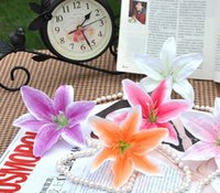 Display Flower artificial silk flowers suppliers - cm mixed color artificial silk lily head flowers decorative flowers wedding decoration flower supplier