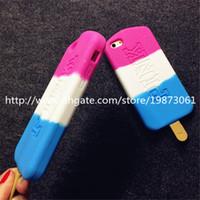 Compra Helados-For Iphone 6 Cases 3D Popsicle Ice Cream Silicona Celular casos para iPhone 5 6 Plus 4.7 5,5 pulgadas 300 pcs