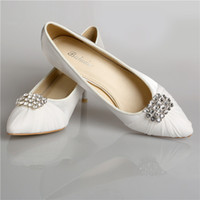 Wholesale Ladies Beaded Shoes Black - In Stock Crystal Red White Black Wedding Dress Shoes Pointed Toe High Heels Women Lady Cocktail Evening Bridal Accessories 2015 Cheap Real
