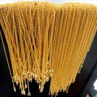 18k gold chain necklace - Factory Direct Sales Fashion Necklace Jewelry K Gold Plated Chains Necklaces Fit Pendants mm Width