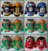 blue buffalo - Buffalo Sabres Jack Eichel columbus blue jackets brandon saad Cheap Hockey Hooded Stitched Old Time Hoodies Sweatshirt Jerseys