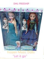 Girls 3-4 Years PVC DHL freeship Let It Go music doll Girls frozen dolls kids Elsa Anna Olaf barbie dolls children girl barbie pal toys baby gift J102302#