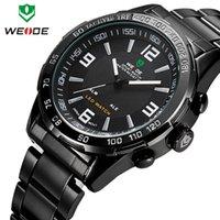 Wholesale Sale Fashion Men s Luxury WEIDE Clock LED Reloj Unique UK Relogio Masculino DZ Vintage Montre Dress UK Wrist Designer Watches