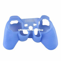 Wholesale Blue Creative Protective Silicone Gel Skin Case Cover for Playstation PS3 Controller