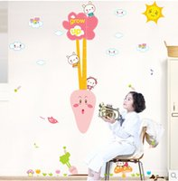 baby measuring small - 7 Syles Large Size Baby Kid Cartoon Height Ruler Measure Chart Wall Sticker Decals Home Decoration Kids Baby Room Decor Stickers