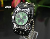 Wholesale Minecraft Watches New Fashion Cheap Watch for Men women Watch Top Quality Compass Wristwatches DHL Black Chain Clock Quartz Digital