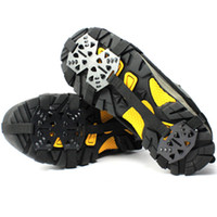 backpacking boots - Antiskid shoe chain teeth ice gripper Snow mountain crampon Outdoor sport steel Boot claw paw