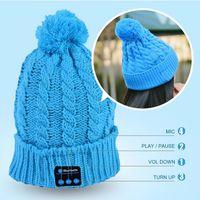 Prezzi Wool hat-2016 cappello musica di Bluetooth morbidi cappelli caldi berretto cuffia di lana caldo cappello vivavoce autunno e l'inverno del cappello di lana a maglia più nuovi 5 colori