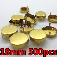 Wholesale 6mm mm Round Shape Metal claw setting raw brass color for setting fancy crystal rhinestones