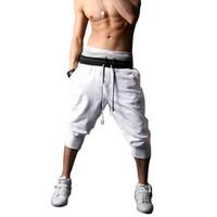 Wholesale Summer Style Mens Harem Capri Sport Athletic Baggy Gym Jogger Joggin Shorts Cotton Blends Shorts Size S XXL