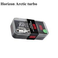 Horizon Arctic Turbo sub ohm Citerne 4ml BTDC sécrétule bobine Recharge Top Sub Ohm atomiseur 1: 1 clone support 40-120w boîte mod