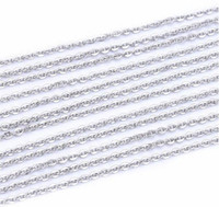 accessories in bulk - 40m Stainless Steel Cable Chain Link in Bulk for Necklace Jewelry Accessories DIY Making mm
