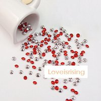 Wholesale Lowest Price Off mm Carat Red With Silver Plated Diamond Confetti Acrylic Bead Wedding Party Favors