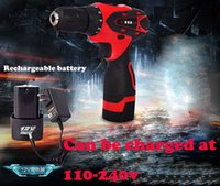 Wholesale 12V Electric Screwdriver Lithium Battery Multifunction Rechargeable Cordless Drill Power Tools