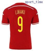 Wholesale Belgium Lukaku Home Soccer Jerseys Men s Thai Quality Soccer Jerseys Cheap Discount Football Jerseys Customized Soccer Jerseys