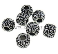 big braclets - New Round Drum Silver mm Big Hole Loose Ancient Original European Beads Style Charms DIY Bead Fit Braclets Chain
